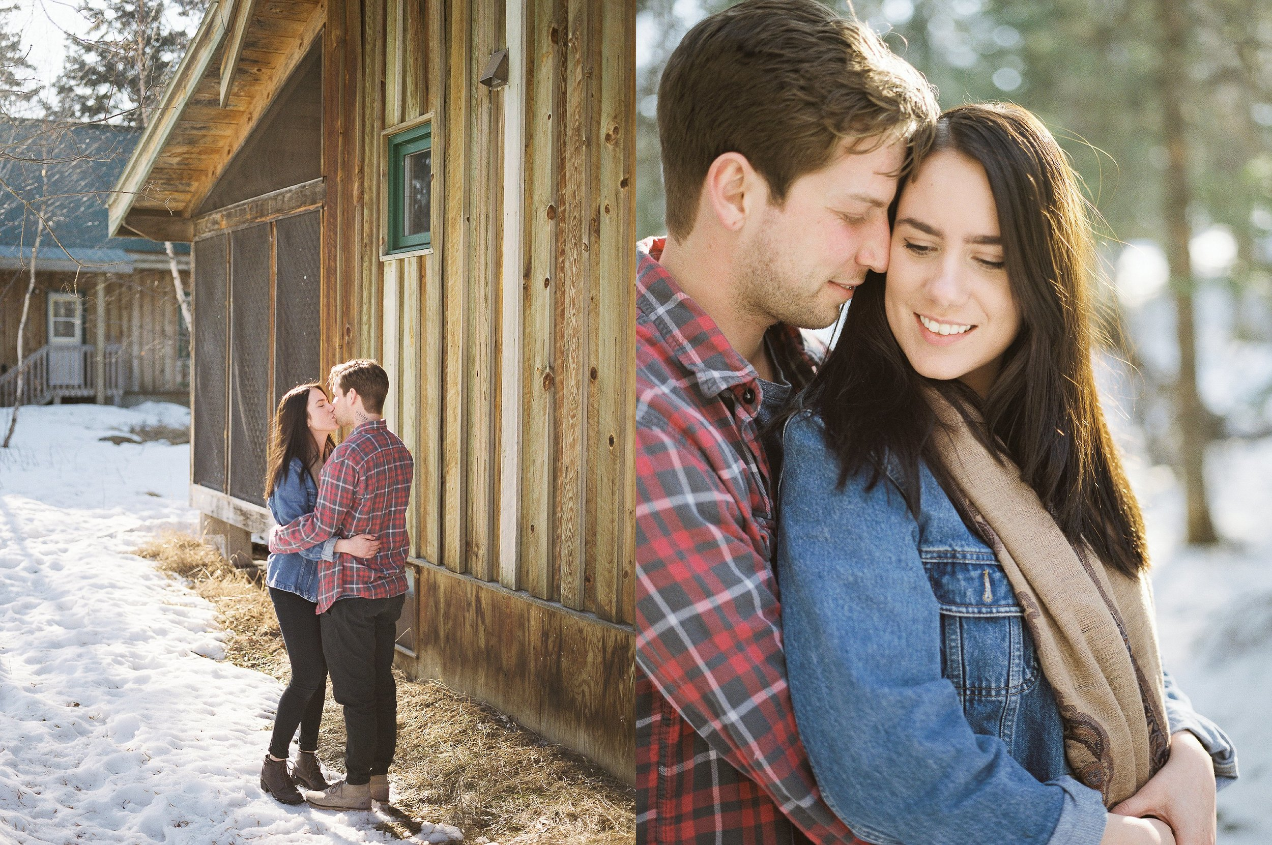 Cabin engagement session | Canadian film photographer Keila Marie Photography | Engagement Session outfit inspiration