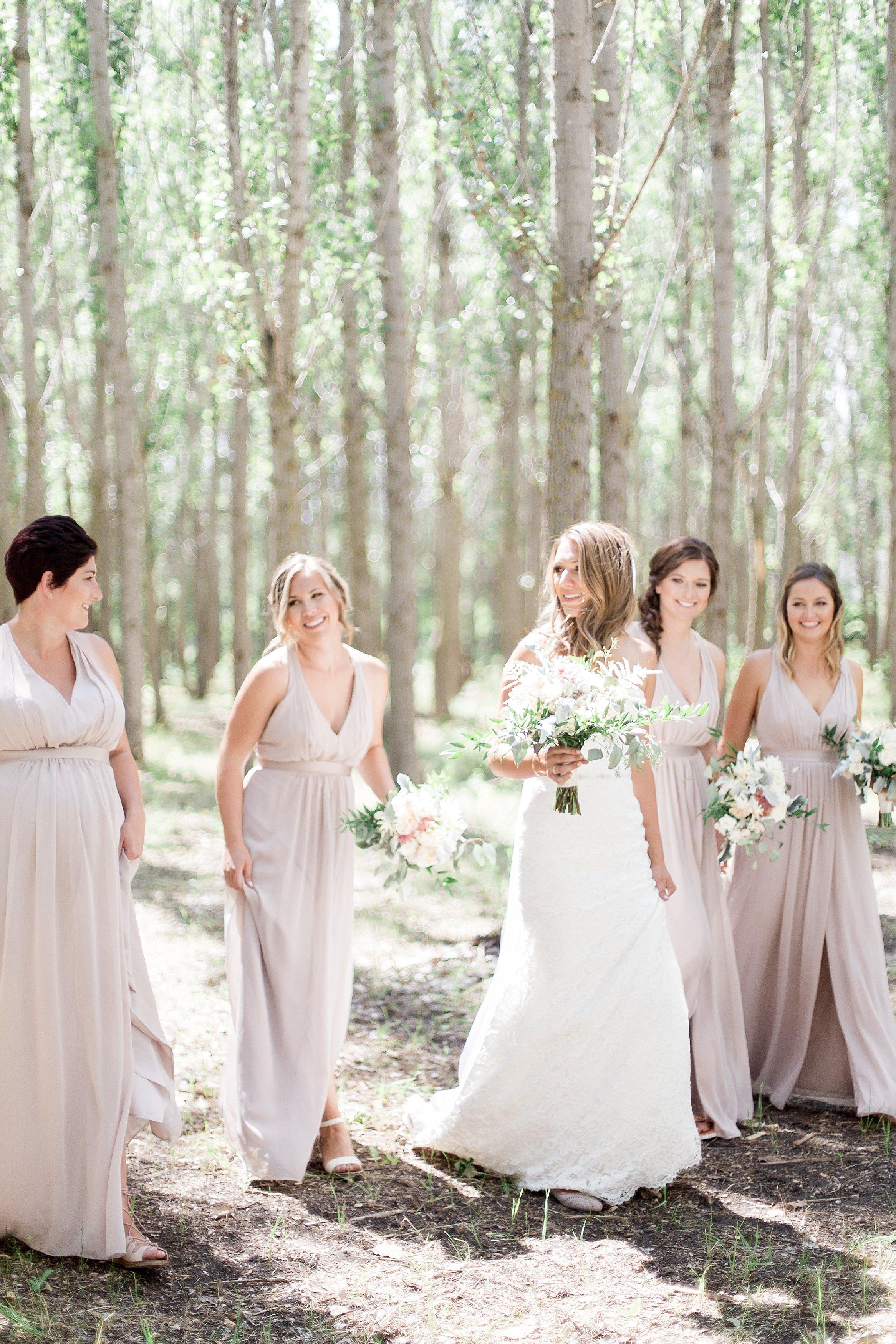 Winnipeg and Vancouver Wedding Photographer film photographer Keila Marie Photography   Bridesmaids photos   bridesmaid blush dresses