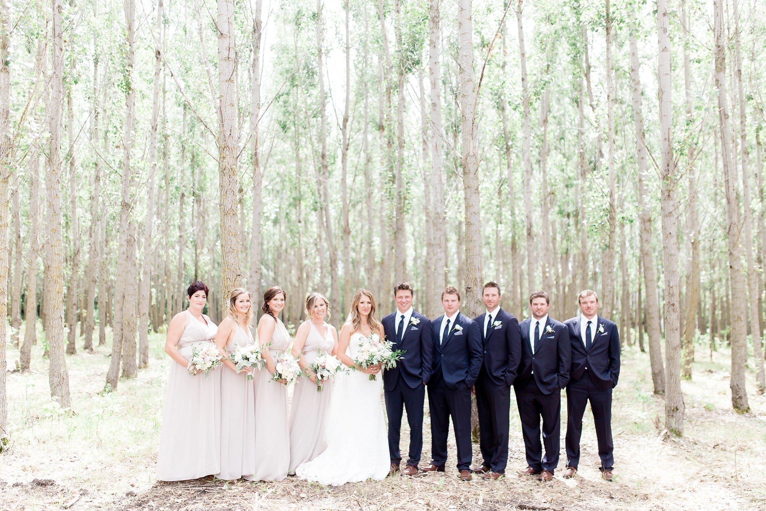 Winnipeg Wedding Photographer Keila Marie Photography   Bridal party photos  Garden inspired wedding