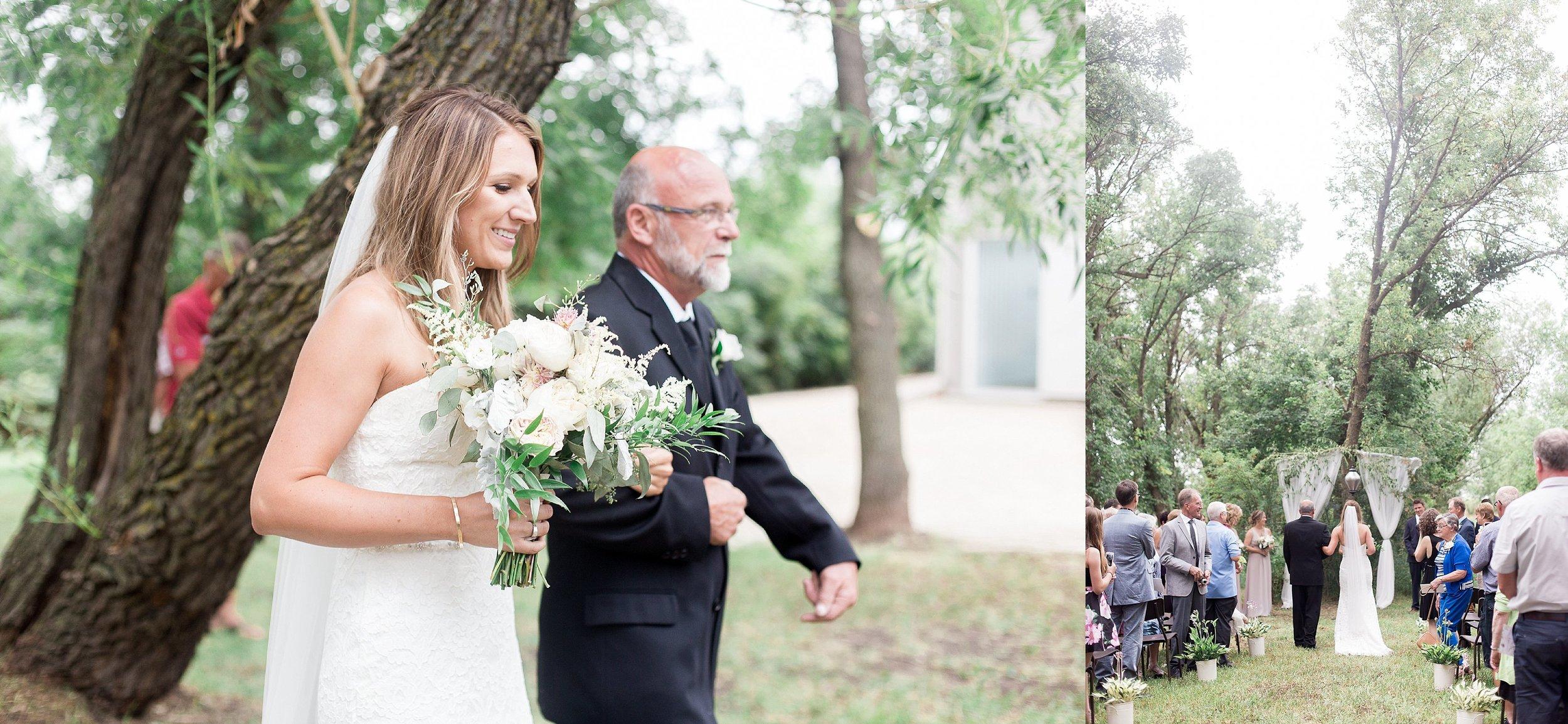 Manitoba wedding photographer   Keila Marie Photography   Garden inspired wedding   Intimate backyard wedding