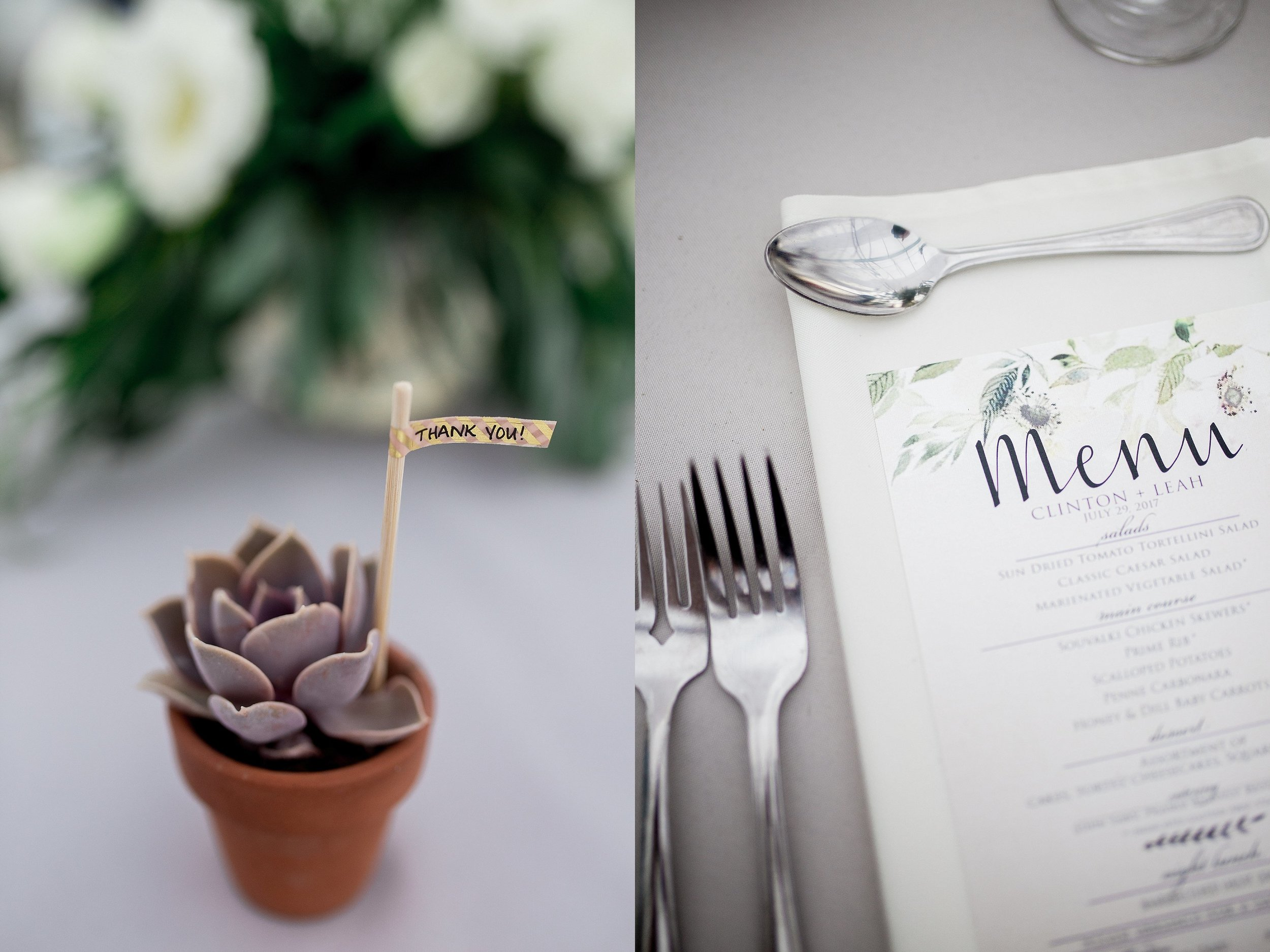 Greenhouse wedding reception   Succulent wedding favours   Cute wedding favour ideas   Keila Marie Photography   Winnipeg Wedding Photographer