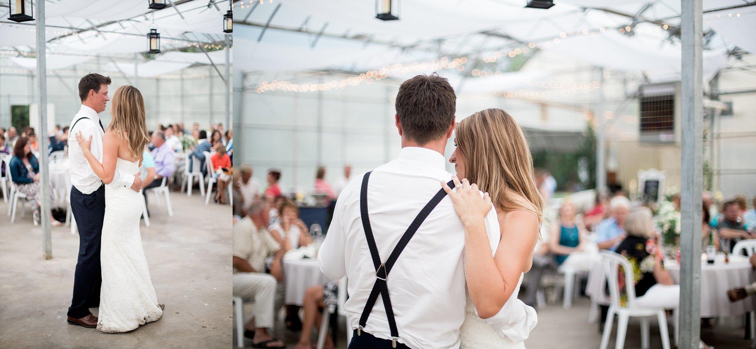 Greenhouse wedding reception   First dance photos  Keila Marie Photography   Toronto Wedding Photographer