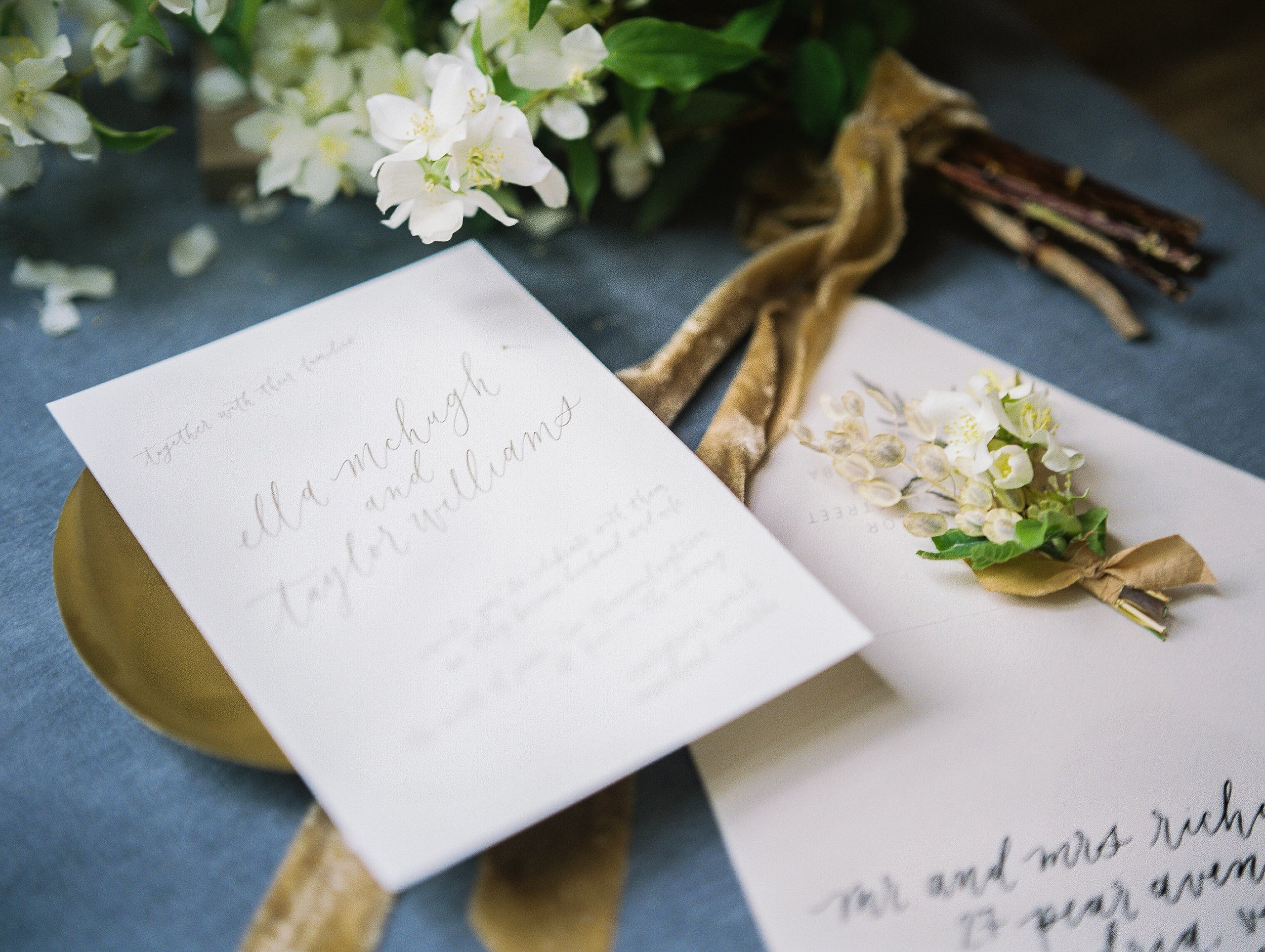 Calligraphy by Jennifer Bianca Calligraphy | wedding day detail photo | Toronto Wedding Photographer Keila Marie Photography