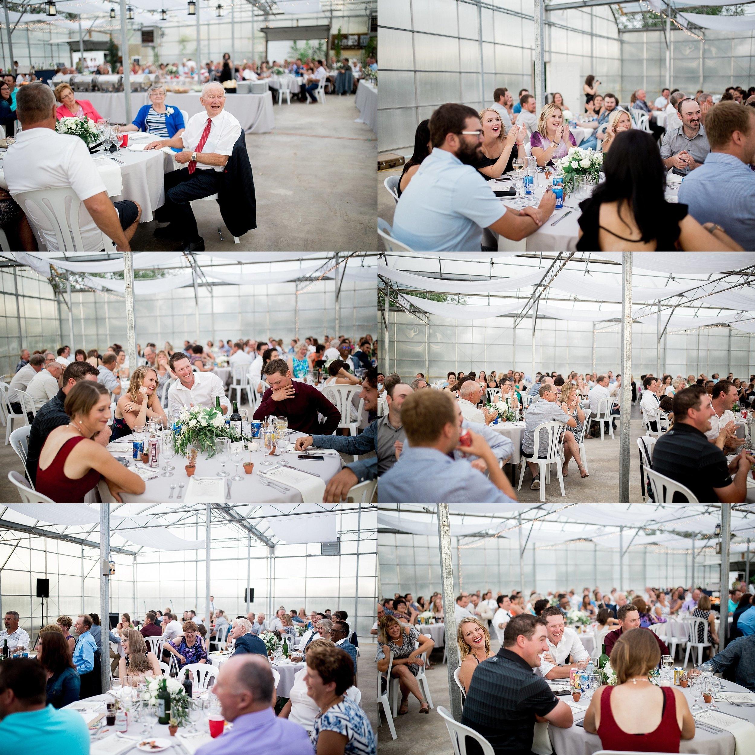 Greenhouse wedding reception  Keila Marie Photography   Manitoba Wedding Photographer