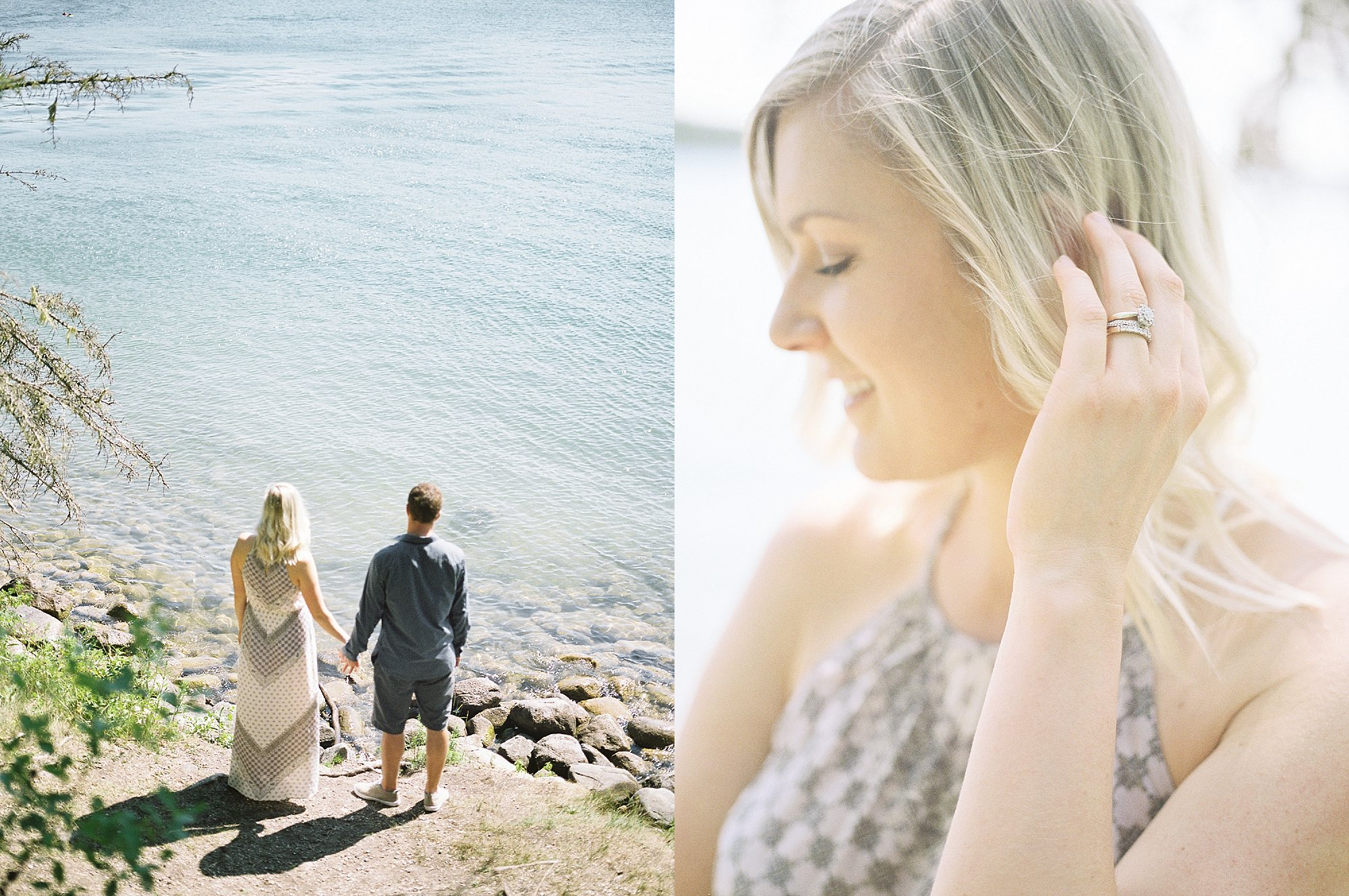 Fine Art Film Photographer | Canadian Wedding Photographer | Anniversary photoshoot | Vancouver Wedding Photographer | Engagement Session by a lake | Keila Marie Photography