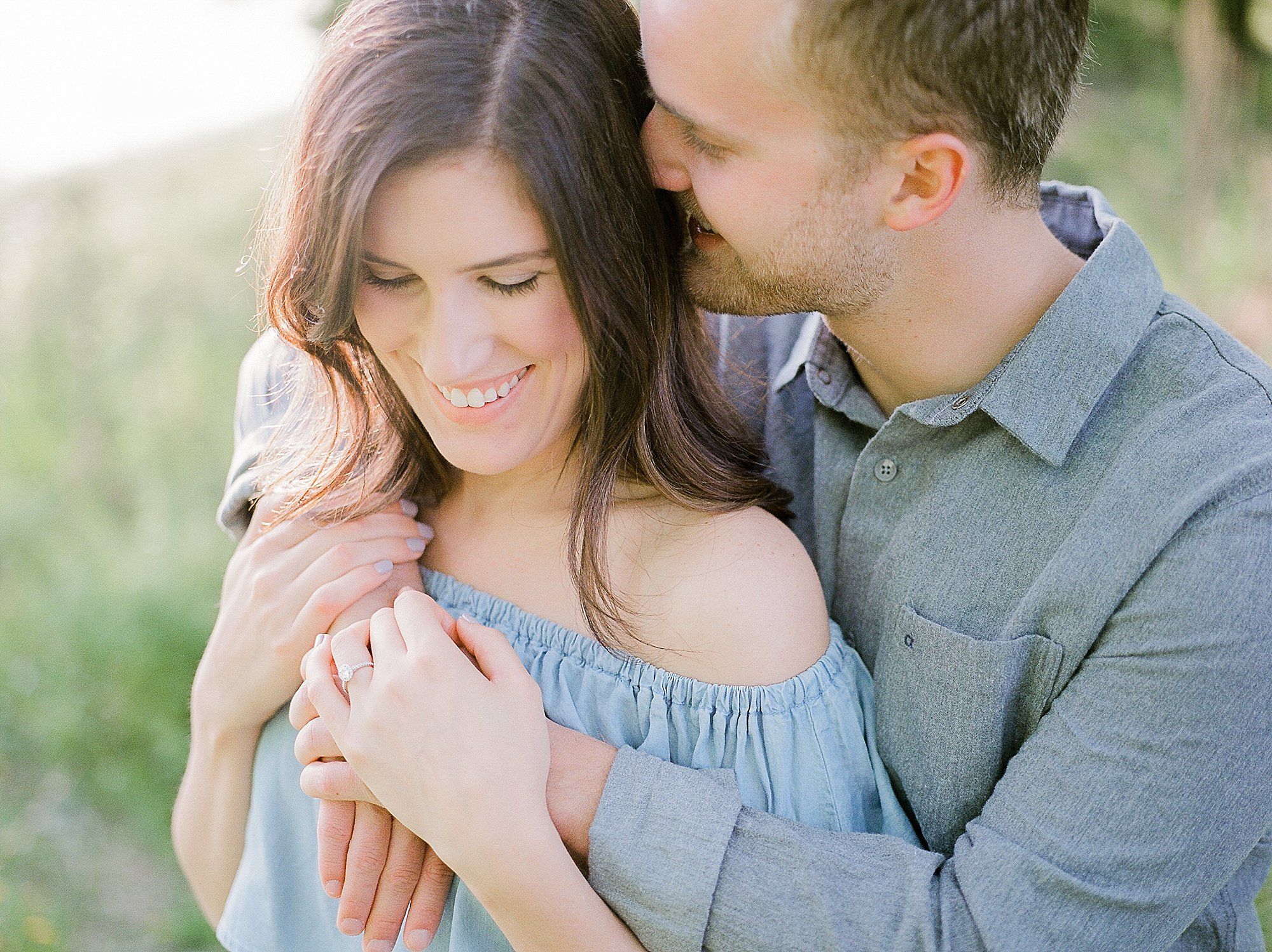 romantic engagement session, engagement photos pose ideas, outfit ideas for summer engagement pics, winnipeg wedding