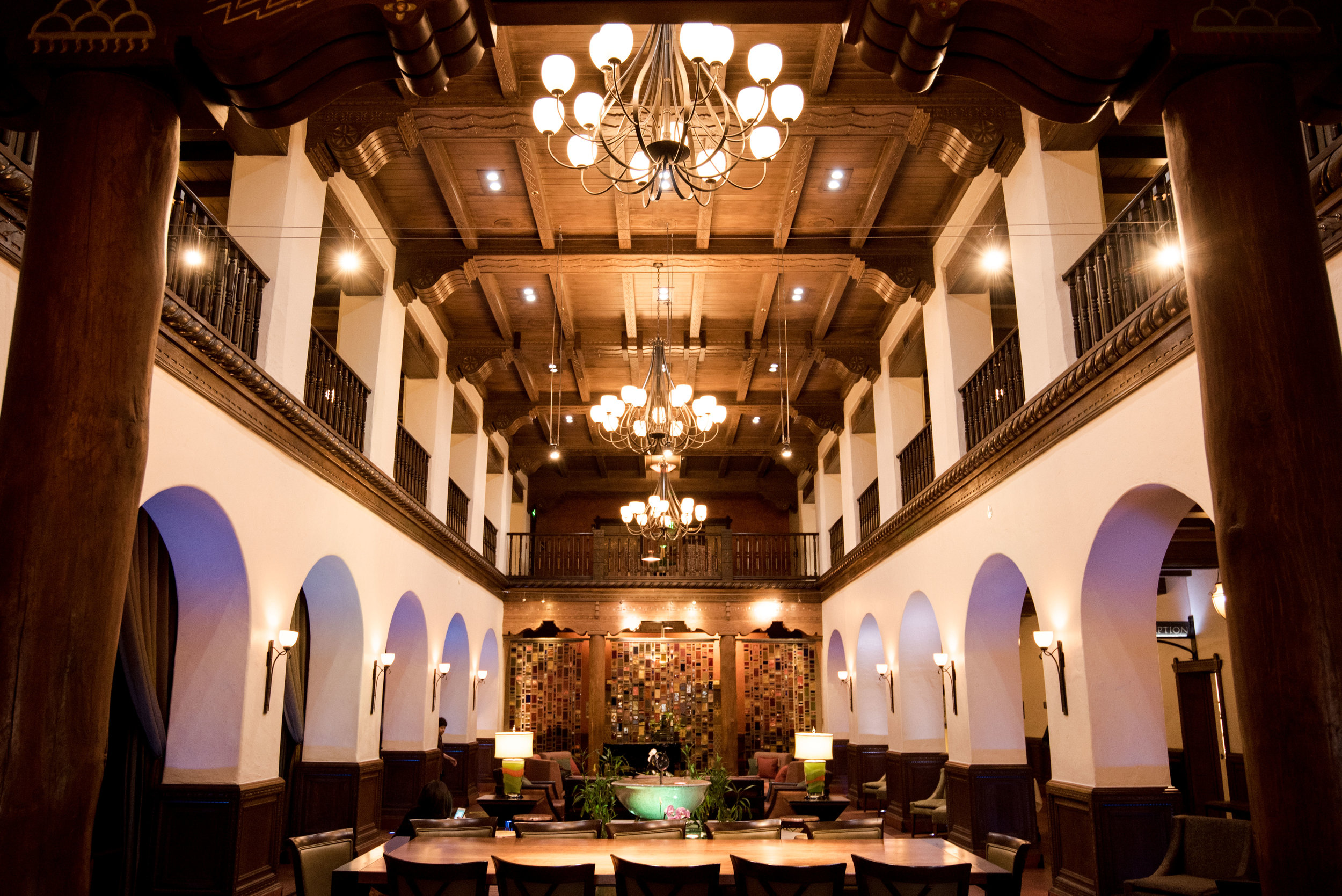 The lobby of the Andaluz