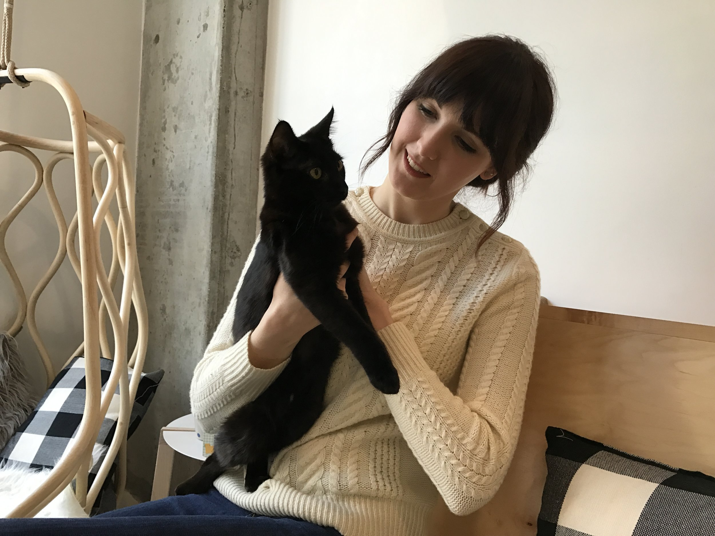 """She has """"crazy cat lady"""" written all over her."""