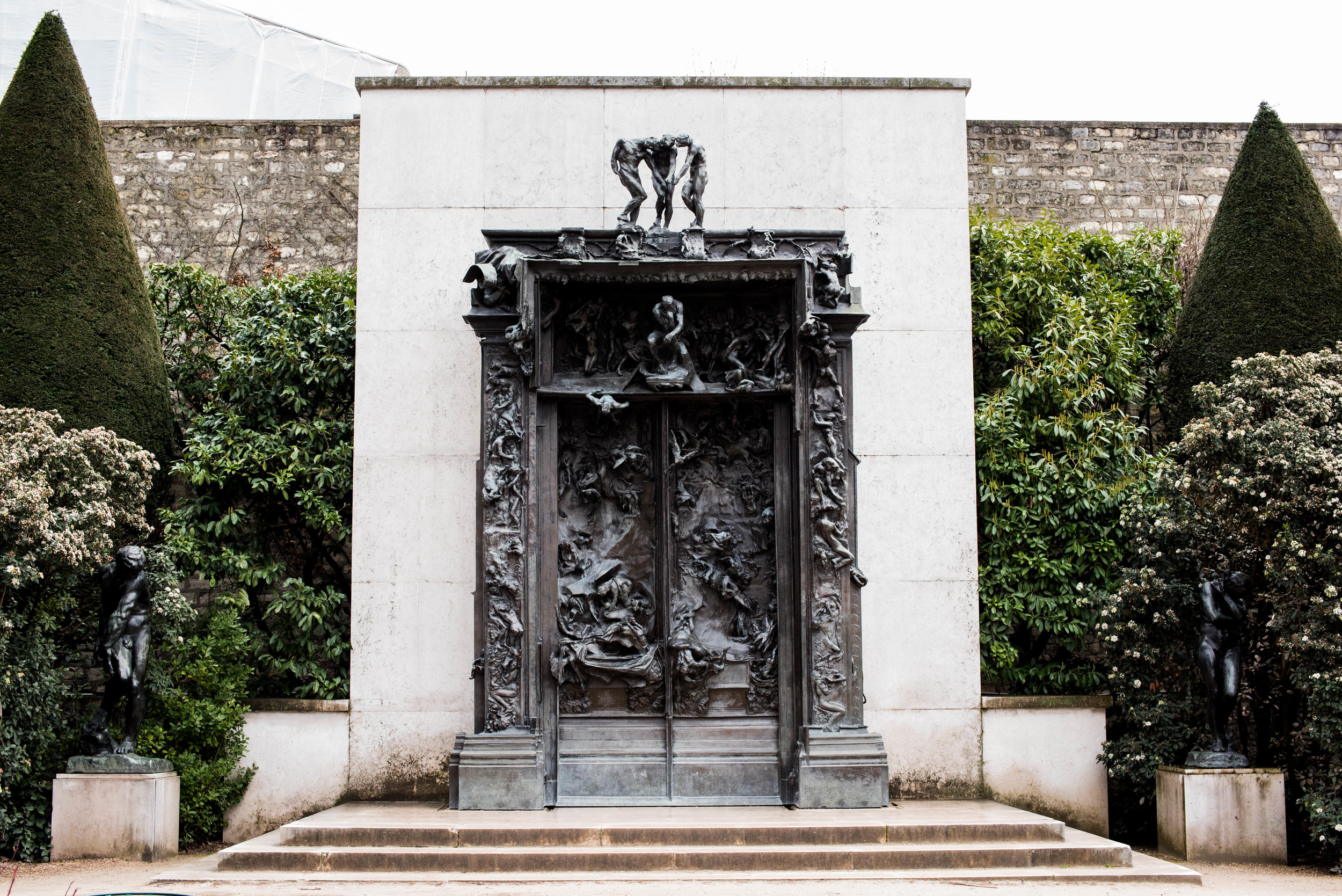 The Gates of Hell in bronze. A plaster version is a Orsay.
