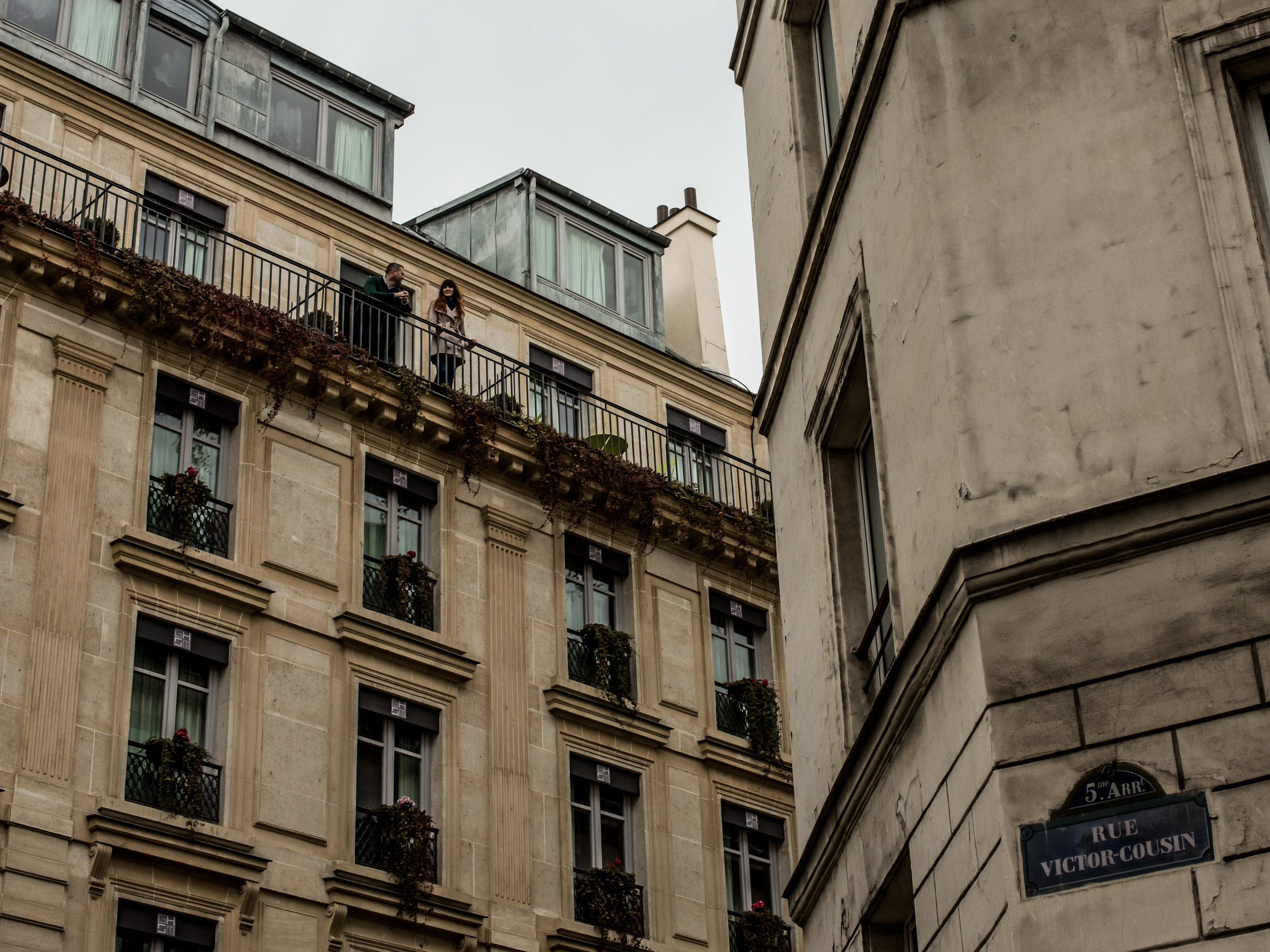 Our hotel in Paris...that we didn't pay for.