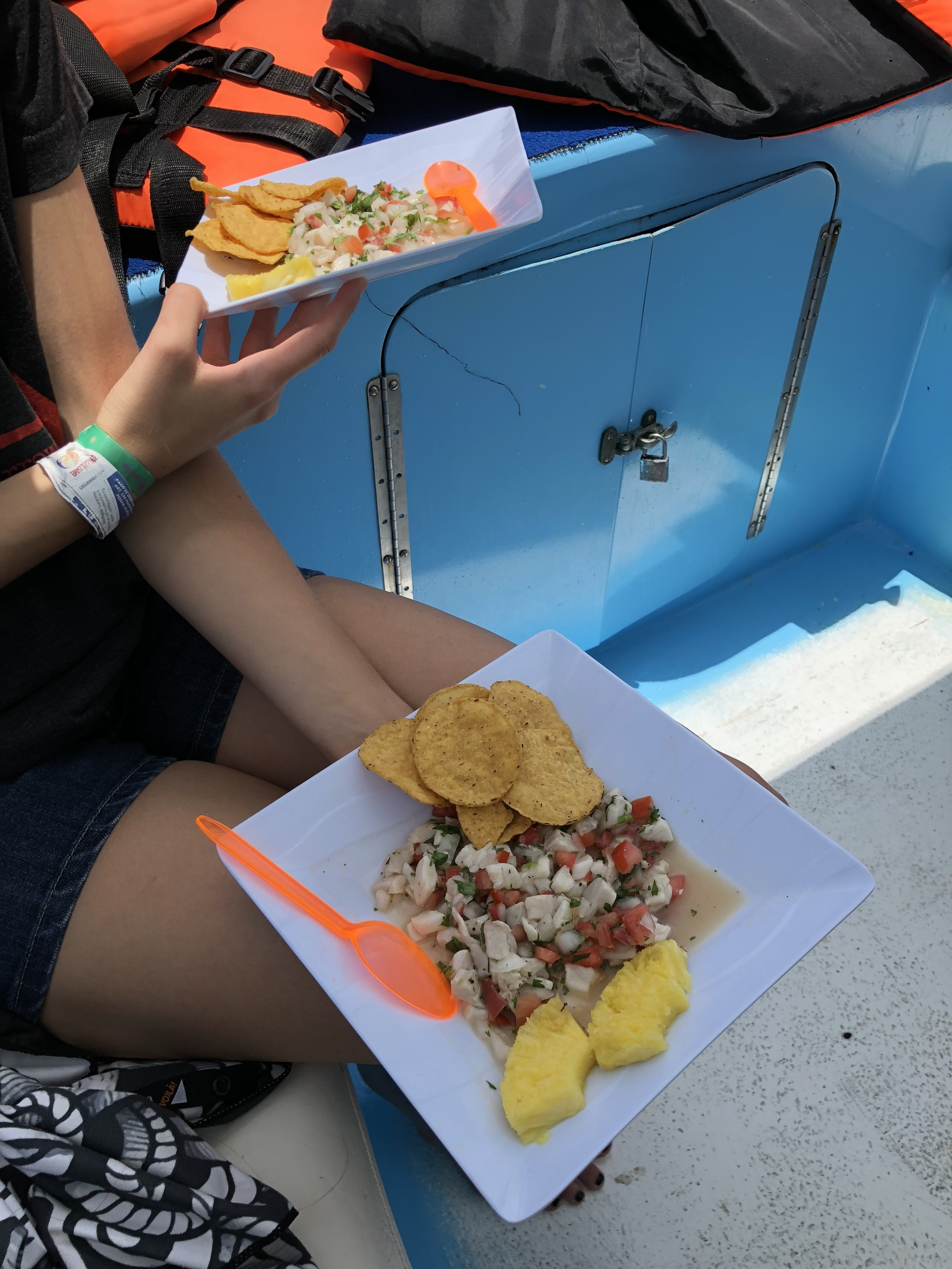 Seriously the best ceviche we had the whole trip!