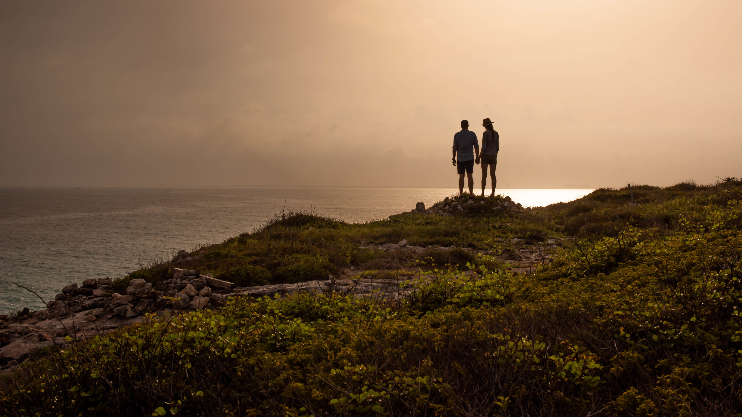 The cliffs of Punta Sur.