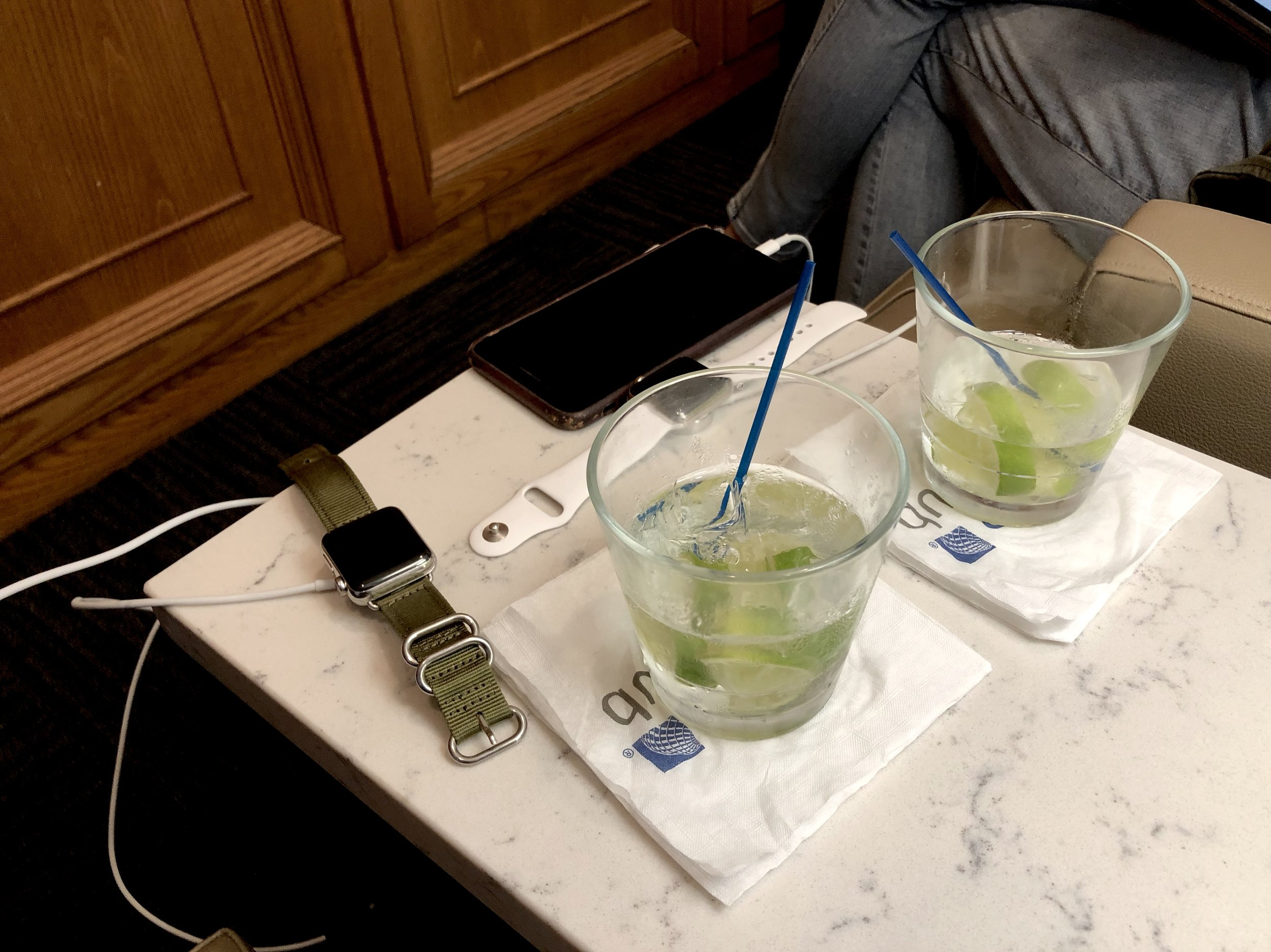 Lounges offer free drinks, quiet and plenty of plugs.