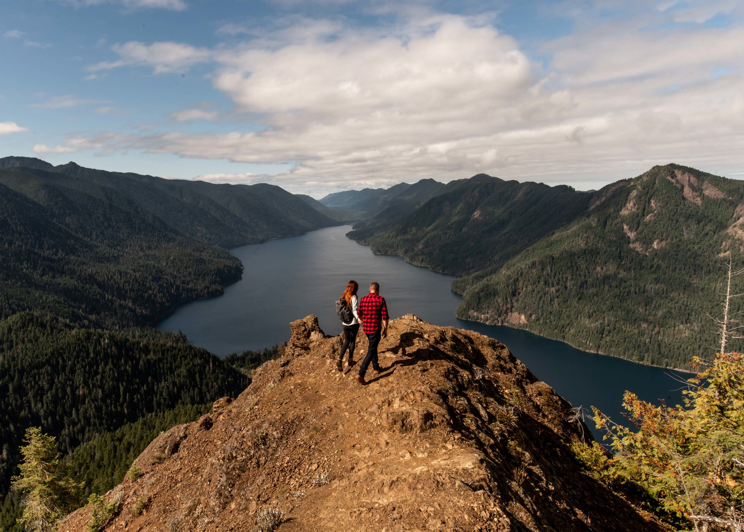 To me, this was our hardest hike. That's Lake Crescent below.