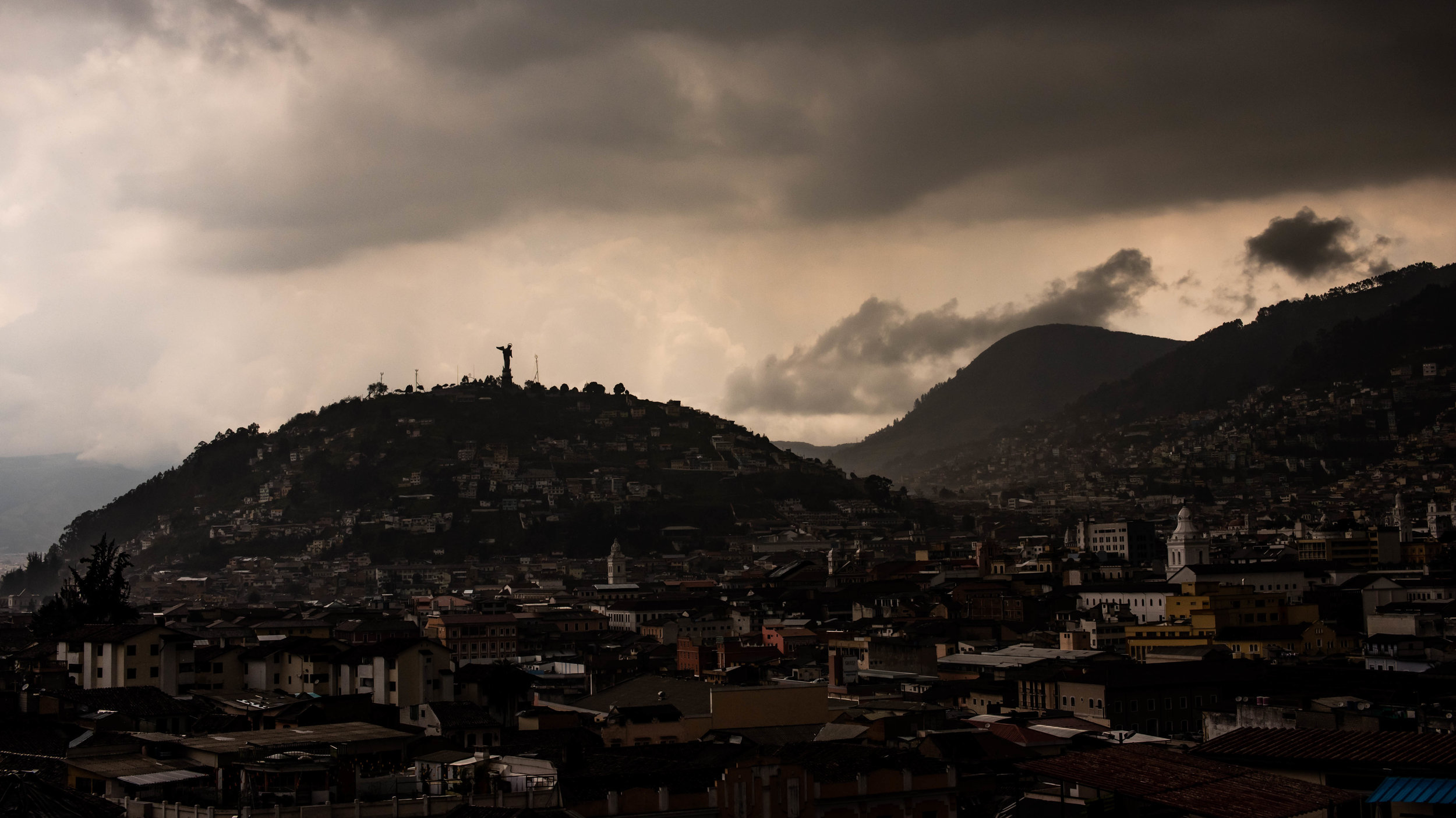 Quito right before a storm.