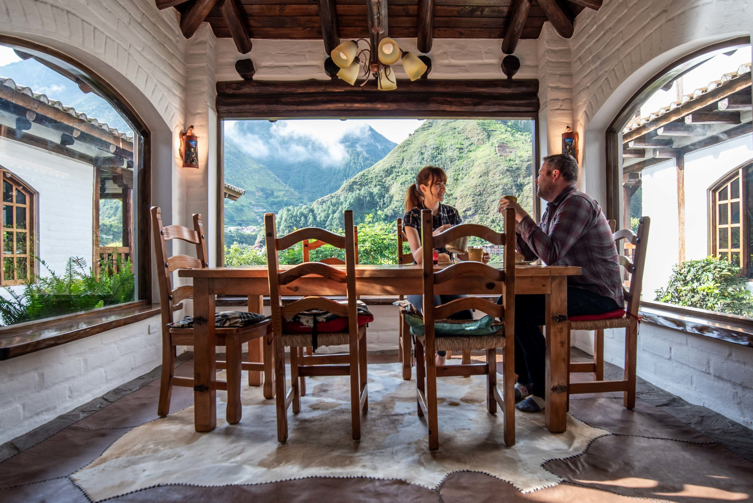 The dining room and the views.