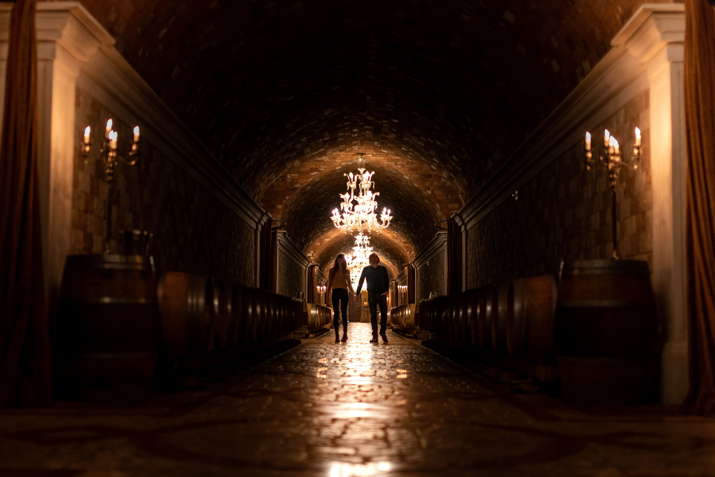 The cellar at Del Dotto.