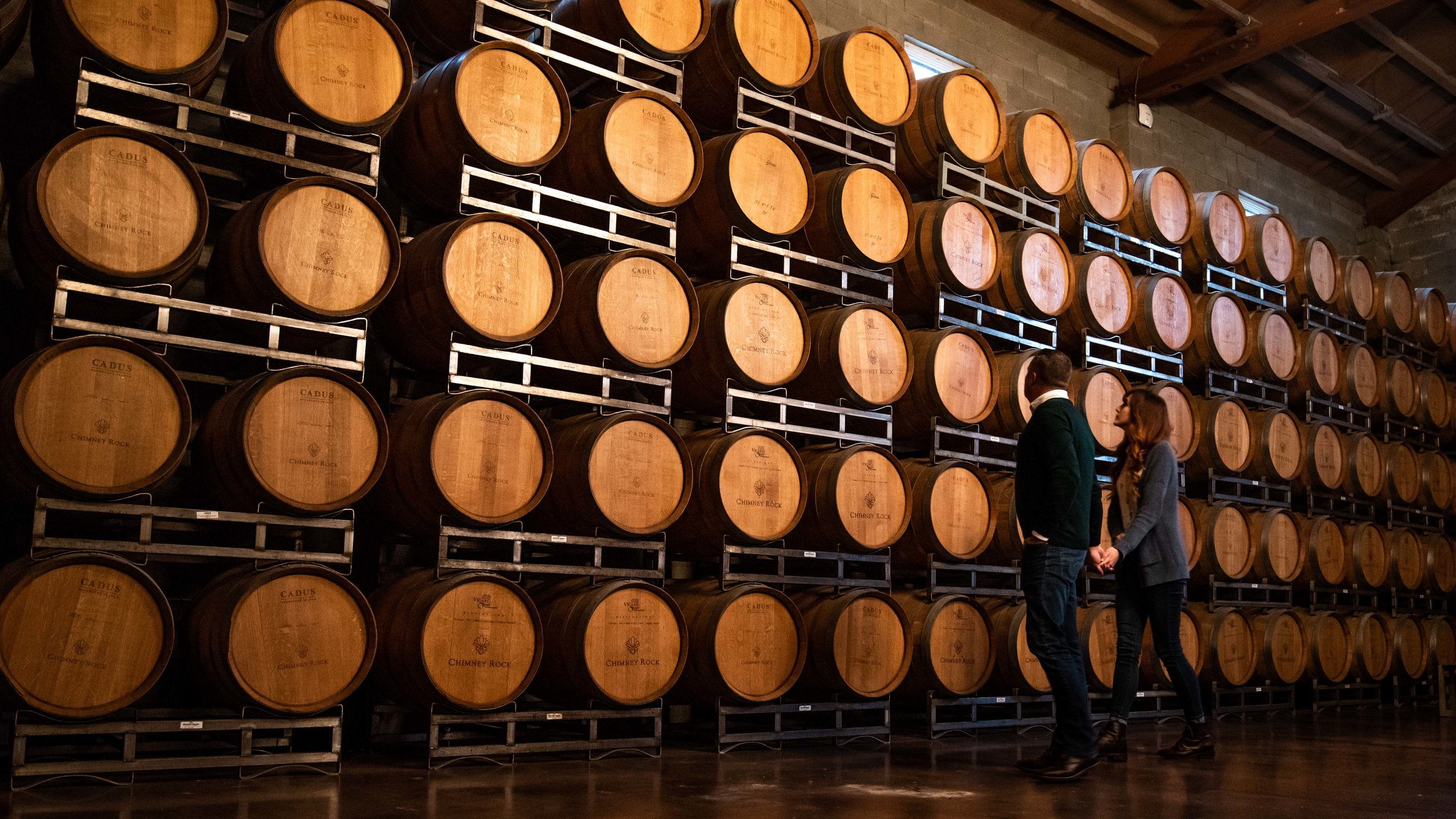 The barrel room.