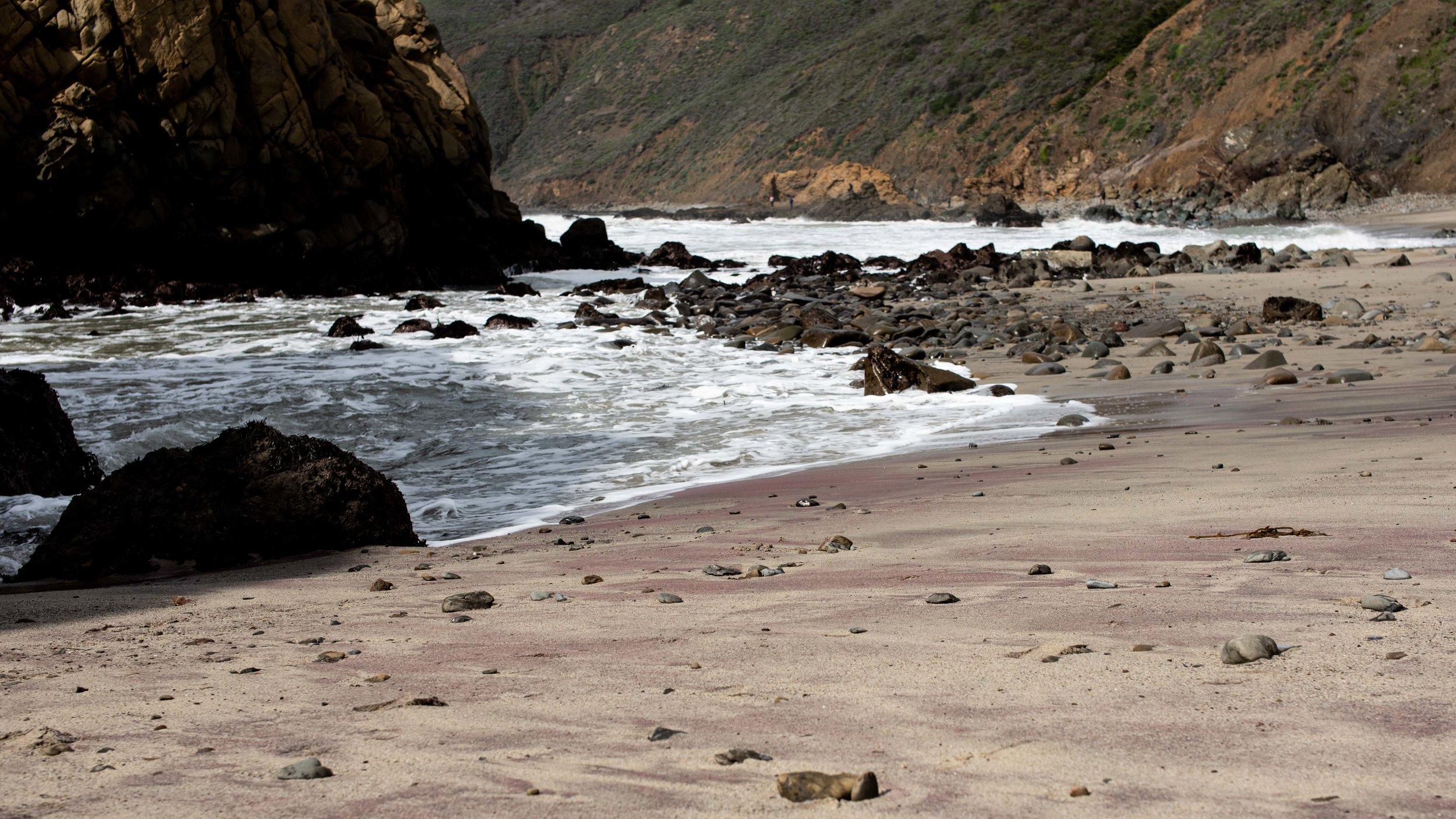 Pfeiffer purple sand beach