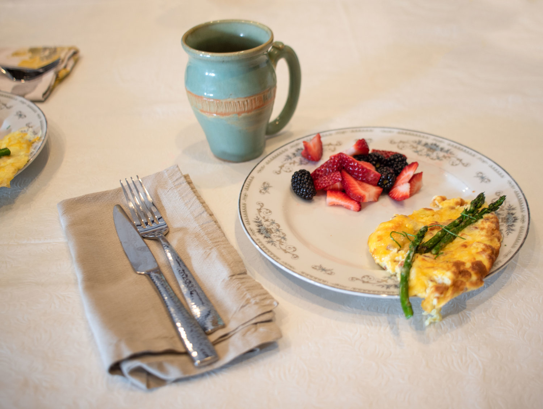 Tonya made us a delicious breakfast.