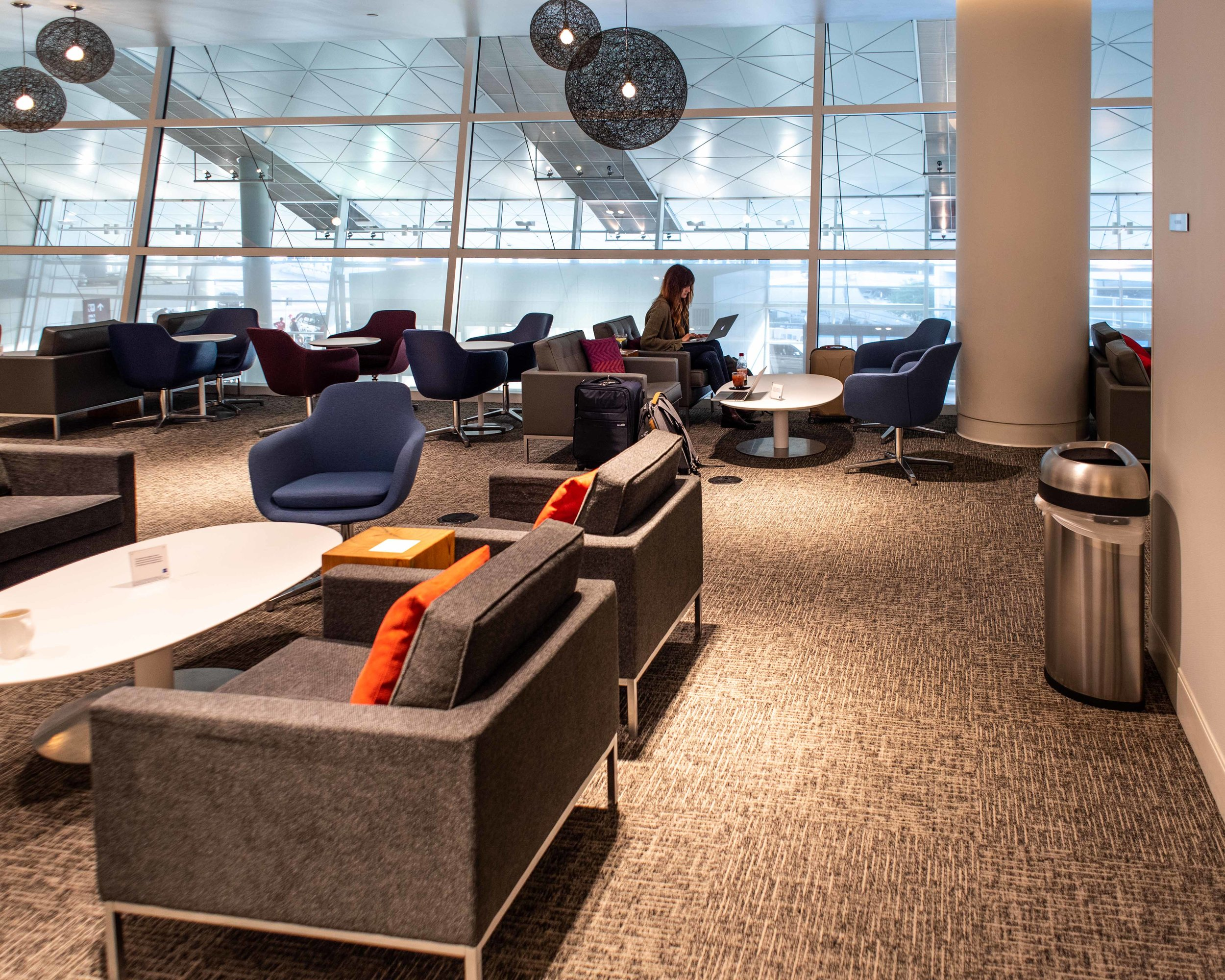 Lounges aren't alway completely empty but they're usually much quieter than the terminal.