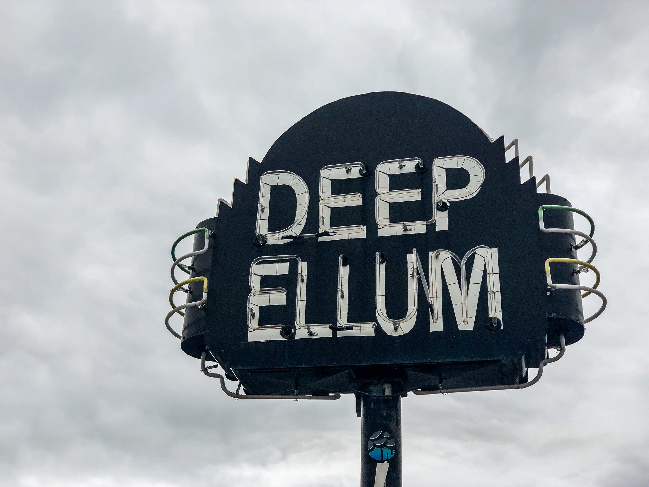 Deep Ellum is a cool neighborhood, filled with shops and restaurants.