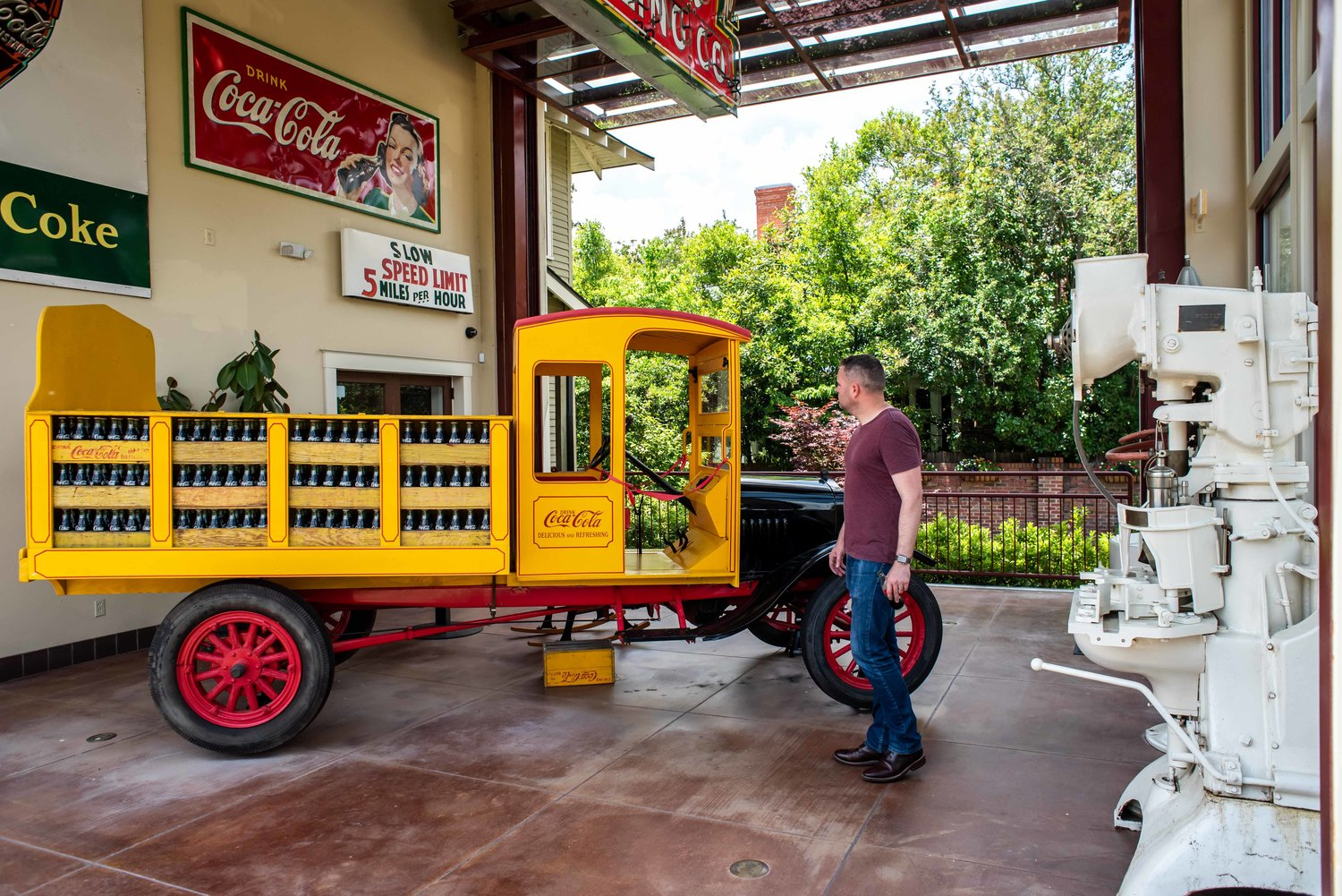 Coke delivery truck.
