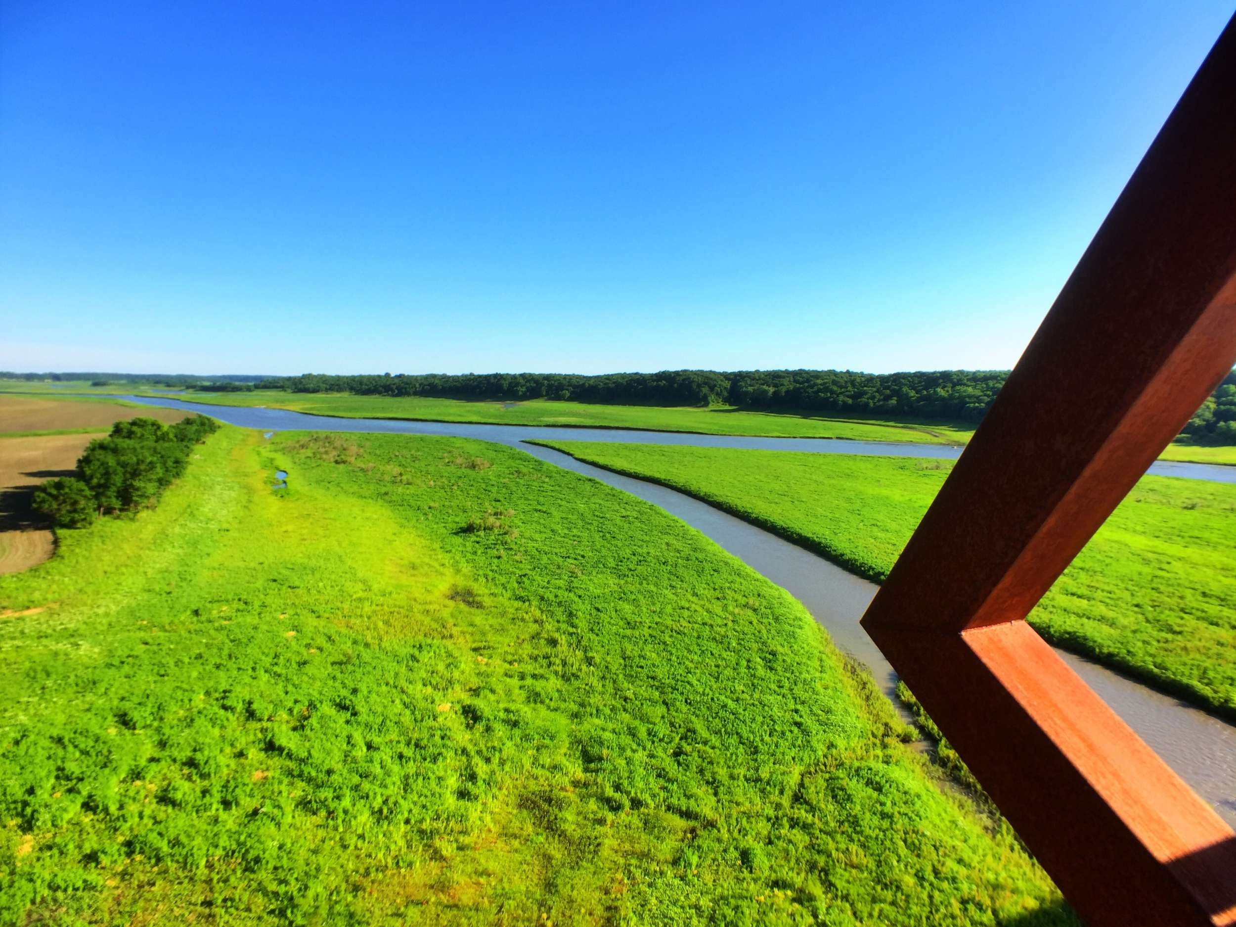 South from the High Trestle Bridge