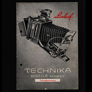 Linhof Technika III 4x5 Gebrauchsanweisung Instructions_German Langauge