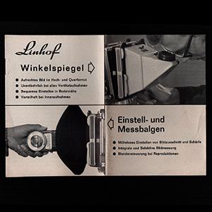 Linhof Winkelspiegel und Messbalgen_German Langauge