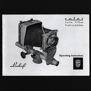 Linhof Kardan Color 4x5 Operating Instructions Manual 1961_English Language
