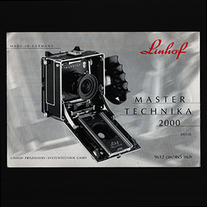 Linhof Master Technika 2000 Instruction Manual_German + English Language 2001