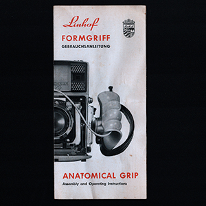 Linhof Anatomical Grip FormGriff Instruction Manual 1963 English & German Langauge
