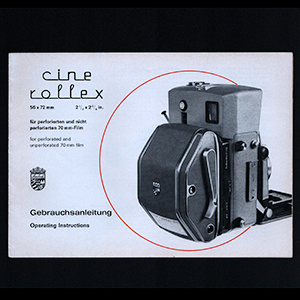 Linhof Cine Rollex Instruction Operating Manual 70mm Film Back Holder 1967 English German Language