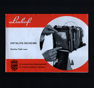 Linhof Ektalite Field Fresnel Lens Instruction Manual 1966 German & English Language