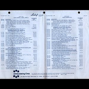 Linhof 1978 Price List USA English Language