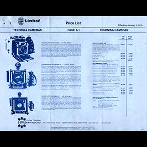 Linhof 1979 Price List USA English Language