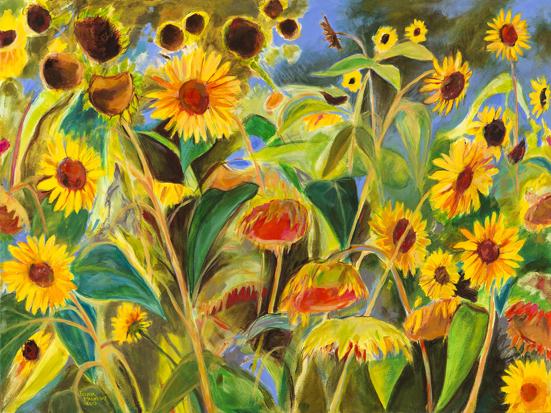 Side Street Sunflowers