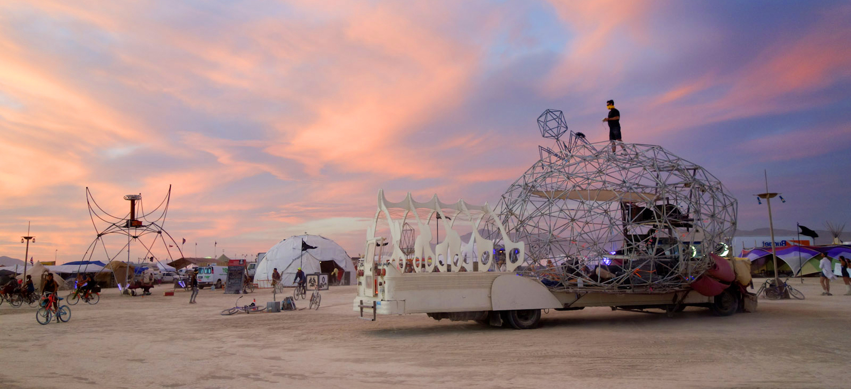 Dr. Brainlove in her natural habitat, Burning Man 2014. Photo copyright Matt Bell.