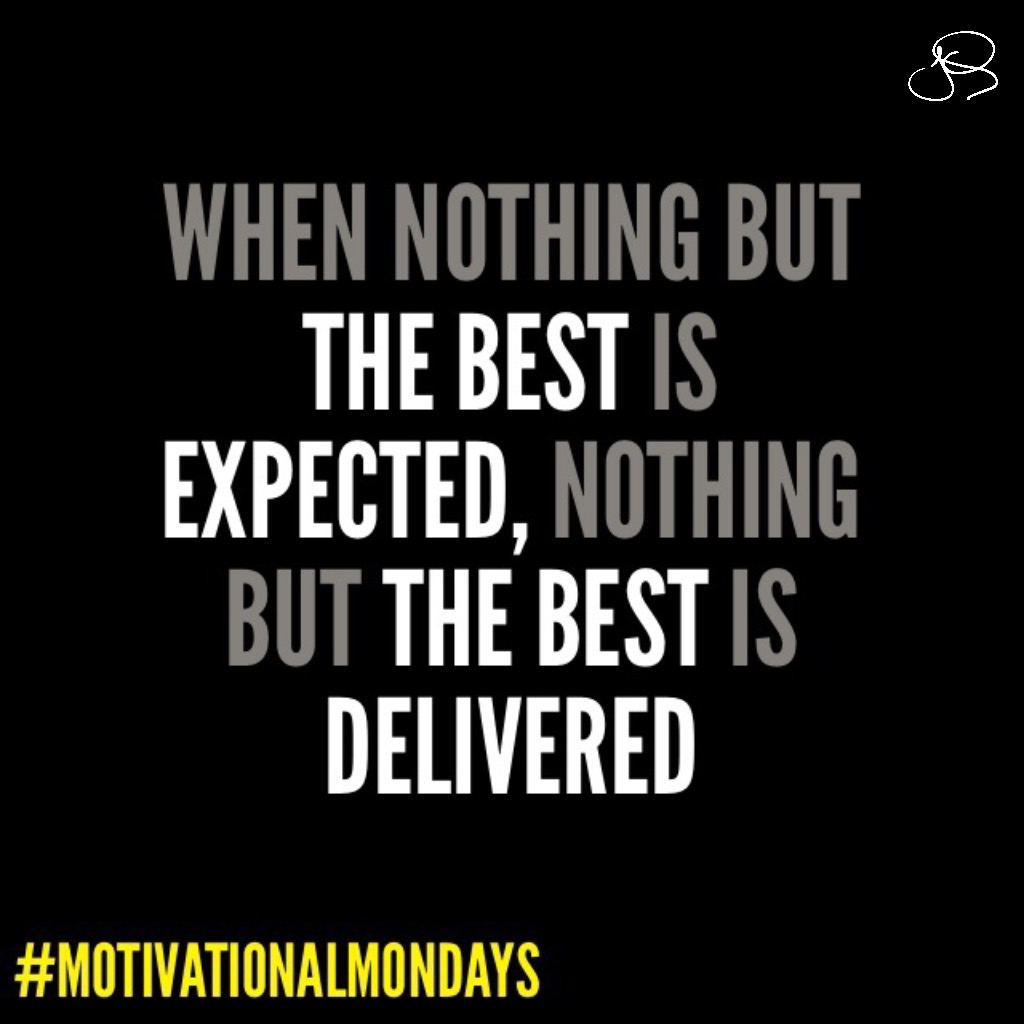 How it starts in your mind is how it will end. Regardless of what has happened before, or what may happen in the future, today is a new day and the start of a new week. Expect nothing but the best from yourself. #MotivationalMondays