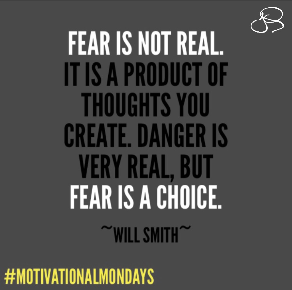 Sometimes fear can be paralyzing. It can prevent us from trying or attempting something in order to avoid that plaguing feeling of incompetence, inadequacy, or defeat. However, not trying will never create the opportunity for a win, or for Success. Therefore, isn't it a loss, or a failure, to not have tried? #MotivationalMondays #Fear #FearIsNotReal