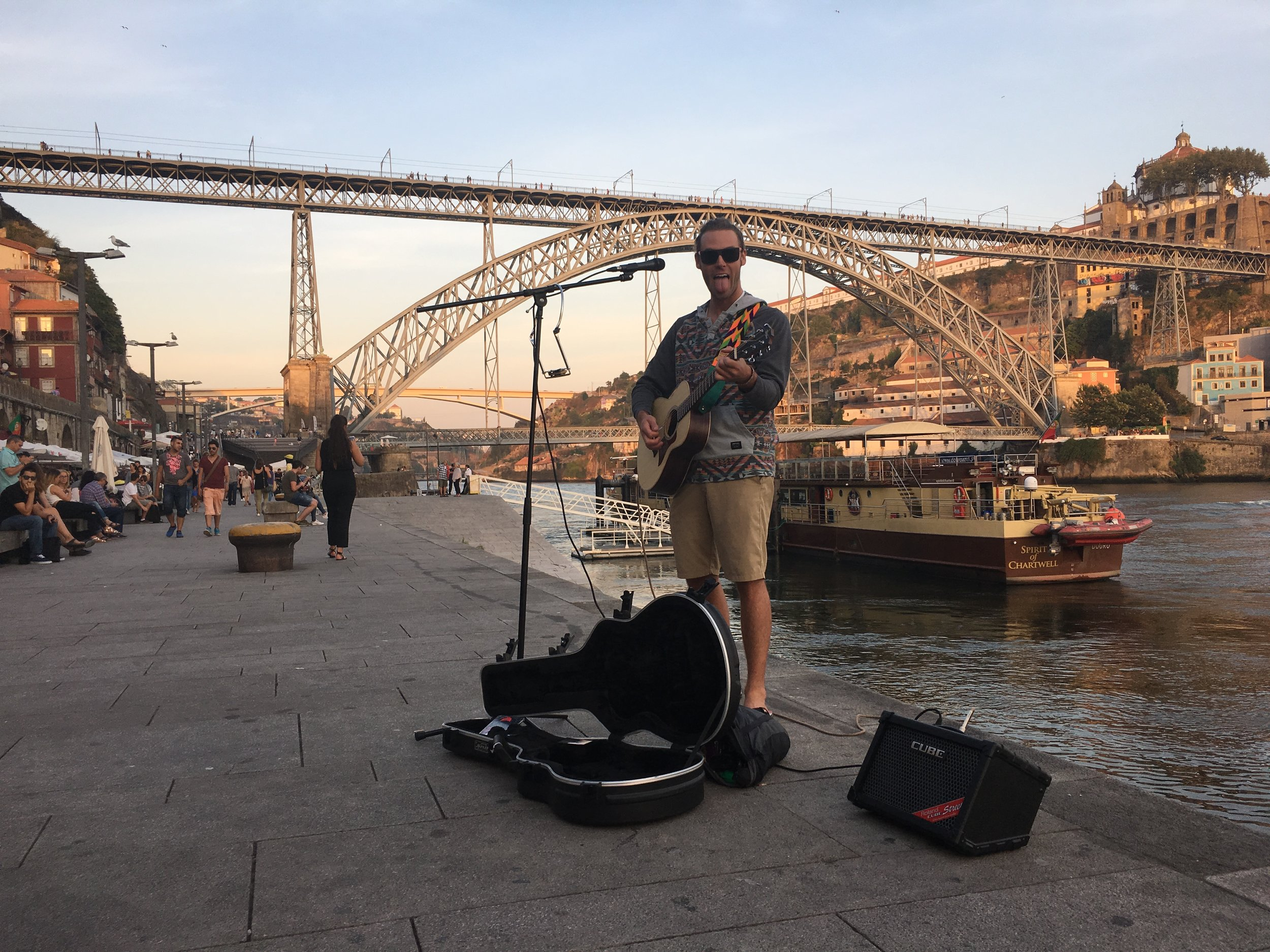 Kevin Kennedy iii by the river in Porto