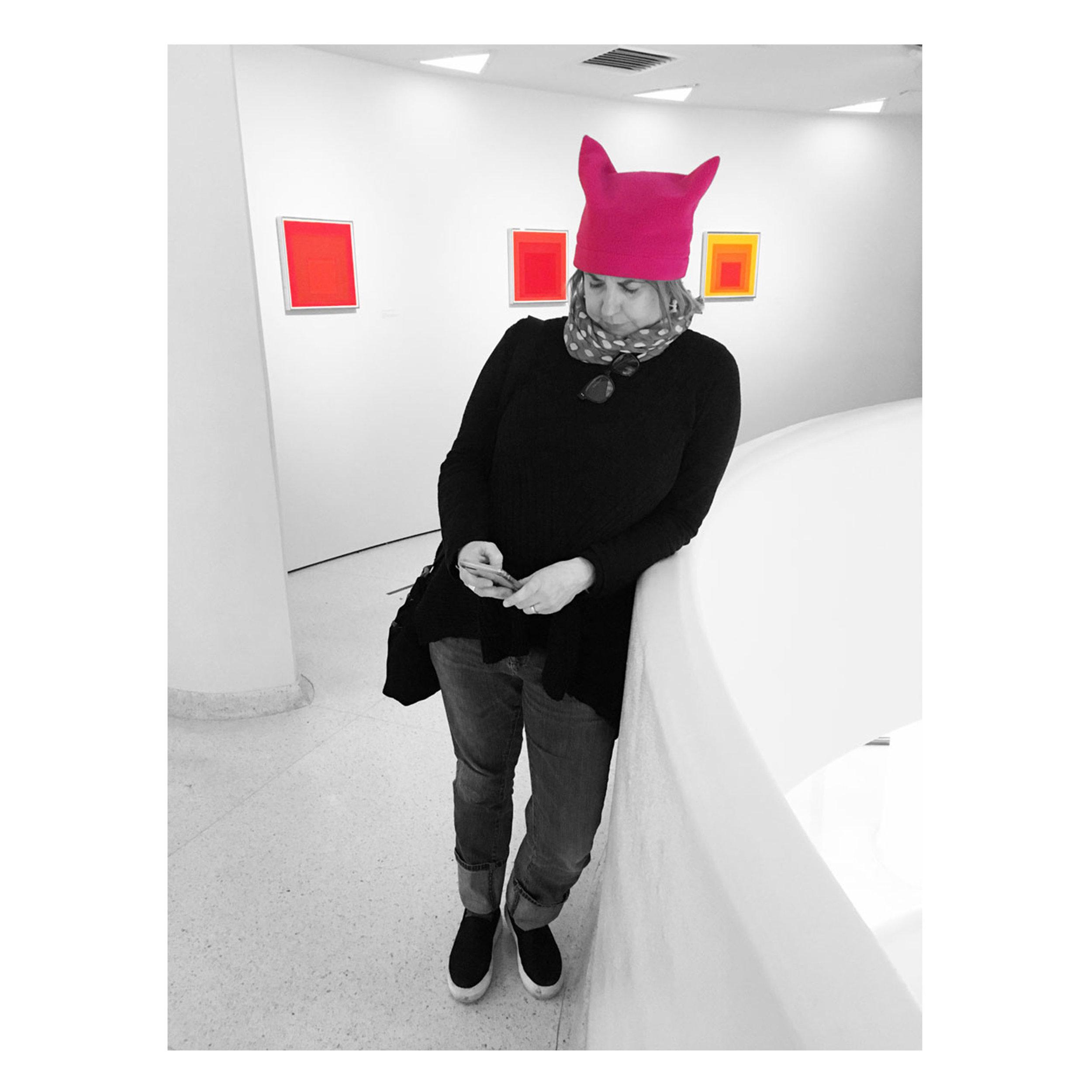 Phone break at the Guggenheim, January 2018