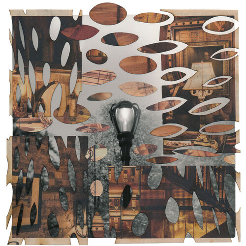 """TITLE OF WORK: Dayburner 6743 (plays with perception) LOCATION & DATE CREATED: New York, NY, 2004 and New Orleans, LA, 2019 DIMENSIONS: 8"""" x 10"""" (unframed) MEDIA/PROCESS: silver print, newspaper/ cut and paste collage   SOLD"""