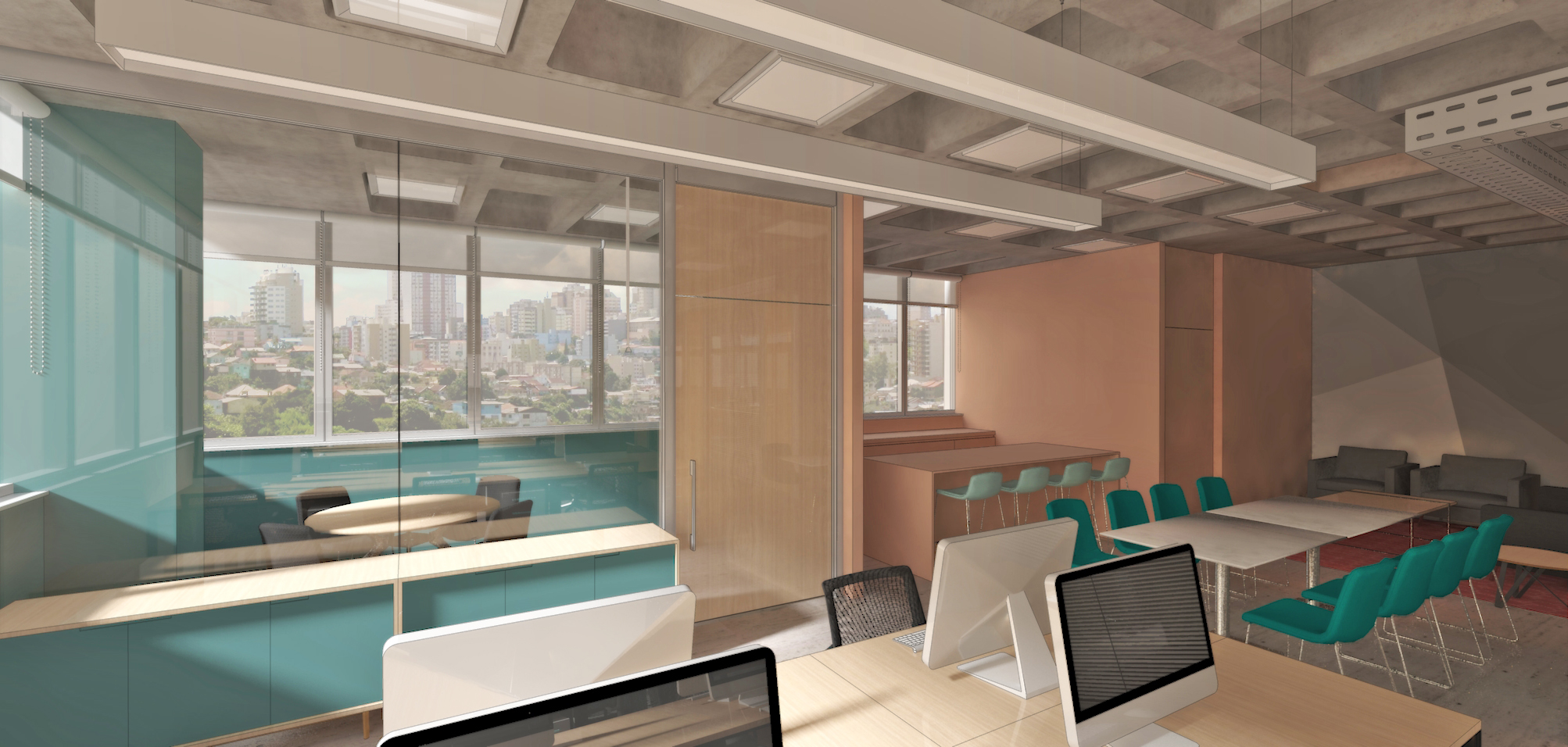 Projeto de arquitetura de interiores para sede corporativa em Belo Horizonte - MG, saiba mais clicando  AQUI