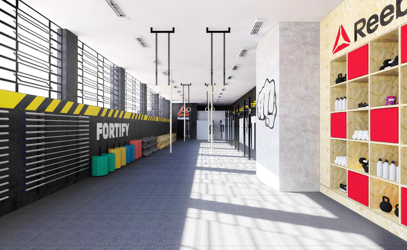 A área de treino da CrossFit Imbatível (São Paulo-SP) ilustra bem o que é um espaço organizado e livre