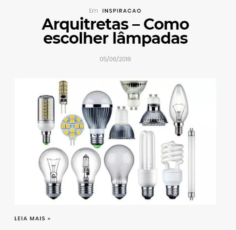 Como escolher lâmpadas
