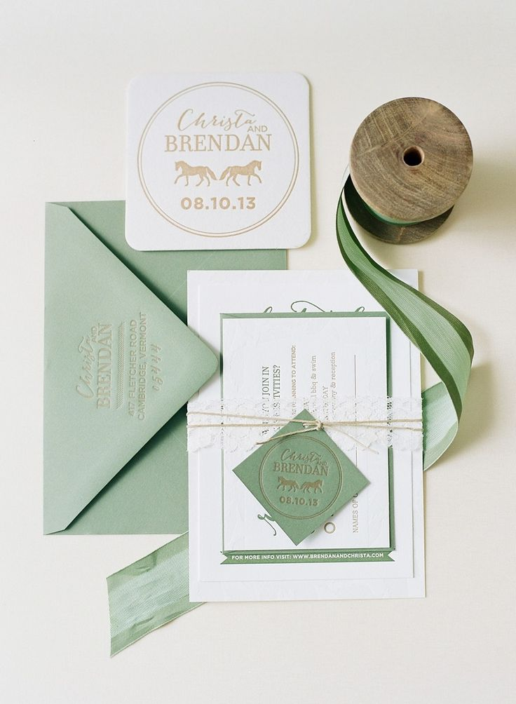 Minty Wedding Invitation Suite - Photograph by Jodi Miller Photography