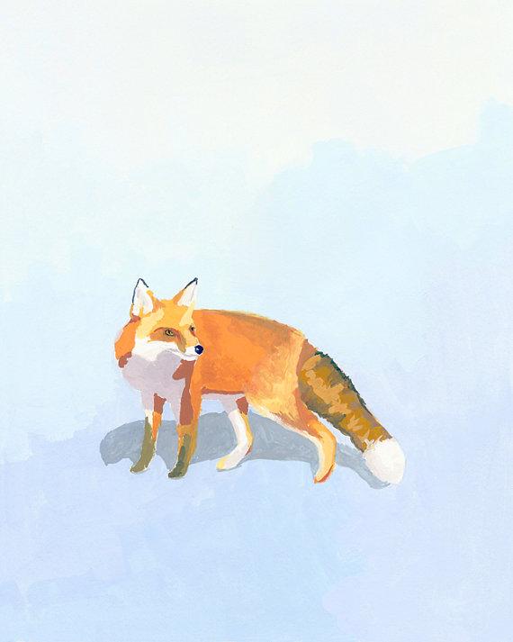 A beautiful fox print by Elizabeth Mayville