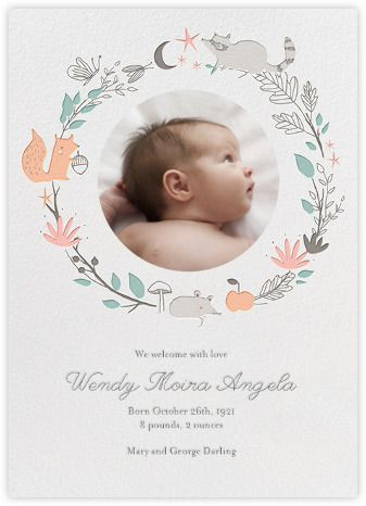A sweet birth announcement by  Paperless Post
